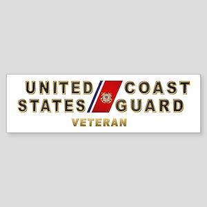USCG Veteran Bumper Sticker
