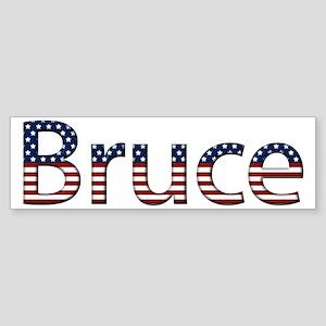 Bruce Stars and Stripes Bumper Sticker