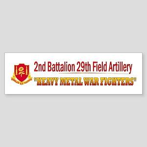 2nd Bn 29th FA Sticker (Bumper)