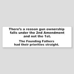 Founding Fathers' Priorities Sticker (Bumper)