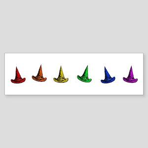 Rainbow Witch Hats Sticker (Bumper)