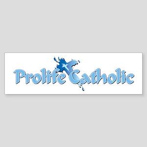 Prolife Catholic Cross (bumper) Bumper Sticker