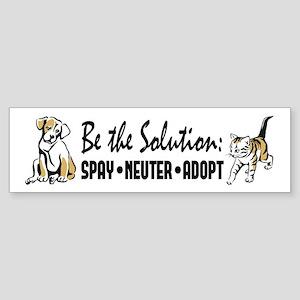 Spay Neuter Adopt Sticker (Bumper)