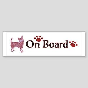 Chihuahua On Board 999 Bumper Sticker