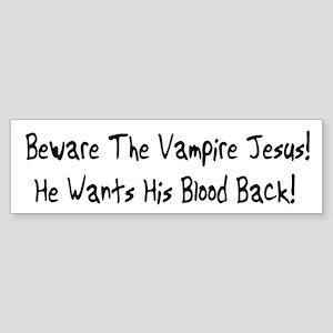 Vampire Jesus Bumper Sticker