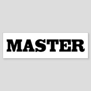 Master Bumper Sticker