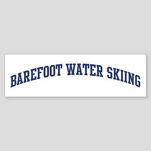 Barefoot Water Skiing (blue c Bumper Sticker