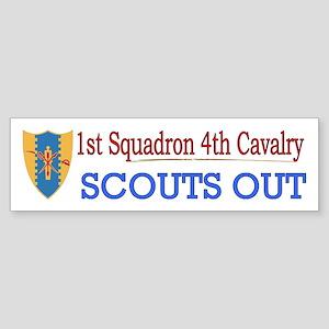1st Squadron 4th Cavalry Sticker (Bumper)