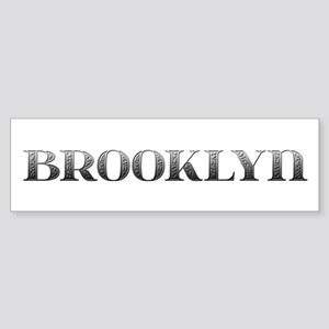 Brooklyn Carved Metal Bumper Sticker