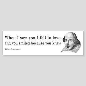 Shakespeare on Love (Hamlet) Sticker (Bumper)