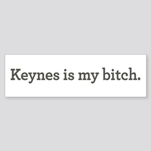 Keynes Is My Bitch Sticker (Bumper)