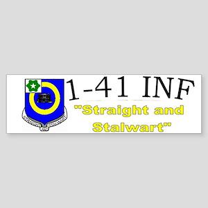 1st Bn 41st Inf Cap1 Sticker (Bumper)