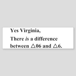 Yes Virginia... Sticker (Bumper)