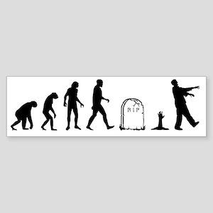 zombie evolution Sticker (Bumper)