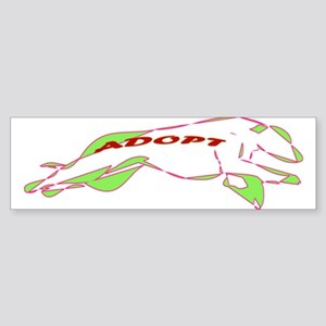 Adopt a Greyhound - Retro Sticker (Bumper)