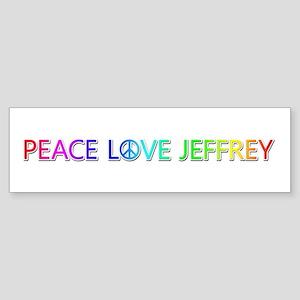 Peace Love Jeffrey Bumper Sticker