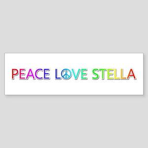 Peace Love Stella Bumper Sticker