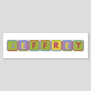 Jeffrey Foam Squares Bumper Sticker