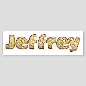 Jeffrey Toasted Bumper Sticker
