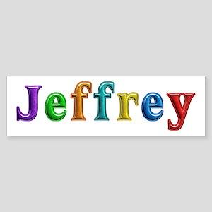 Jeffrey Shiny Colors Bumper Sticker