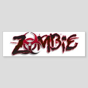 Zombie Biohazard Halloween Sticker (Bumper)