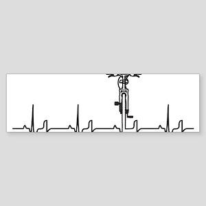 Bike Heartbeat Sticker (Bumper)
