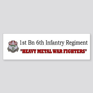 1st Bn 6th Inf Sticker (Bumper)
