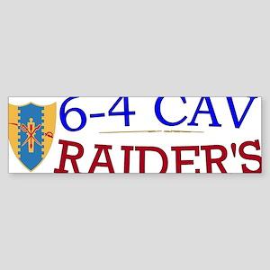 6th Squadron 4th Cavalry cap2 Sticker (Bumper)