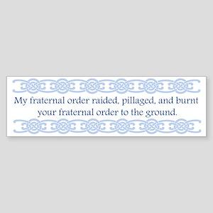 norse-fraternal-order-back Sticker (Bumper)