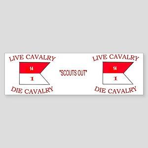 1st Squadron 14th Cavalry Mug4 Sticker (Bumper)