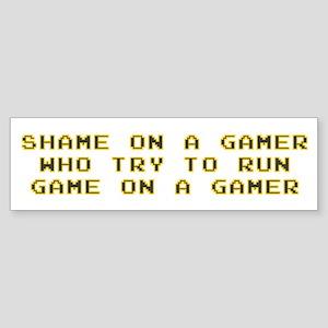 Gamer Shame Bumper Sticker