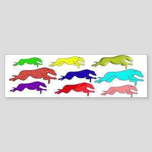 The Greyhound outline (in man Sticker (Bumper)