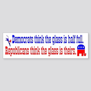 Democrats Vs. Republicans Bumper Sticker