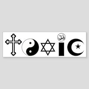 Religion is Toxic Sticker (Bumper)