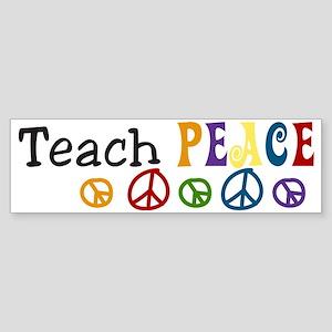 Teach  Peace Sticker (Bumper)