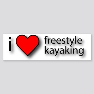 I Love Freestyle Kayaking Bumper Sticker