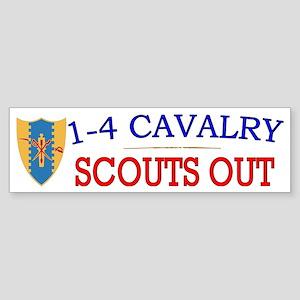 1st Squadron 4th Cav cap2 Sticker (Bumper)