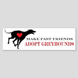 greyhound friend Sticker (Bumper)