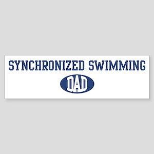 Synchronized Swimming dad Bumper Sticker