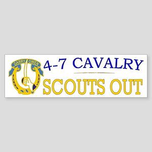 4th Squadron 7th Cavalry bs4 Sticker (Bumper)