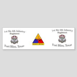 1st Bn 6th Inf Mug2 Sticker (Bumper)