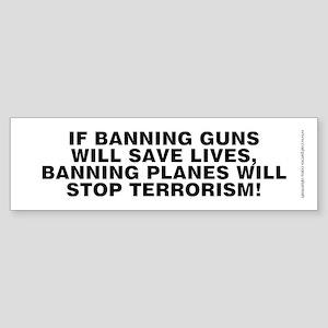 Ban Planes 2, Sticker (Bumper)