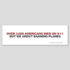 Ban Planes, Sticker (Bumper)