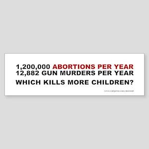 Abortions Not Guns Kill Children, Sticker (Bumper)
