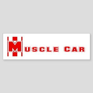 Retro Muscle car stripe-red- Bumper Sticker