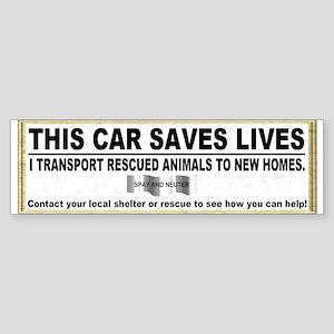 Animal transport sticker (Bumper)