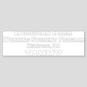 percheronu_black(woodfinnfarm_tam Sticker (Bumper)