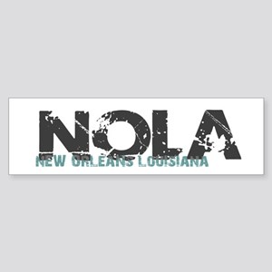 NOLA New Orleans Turquoise Gray Bumper Sticker