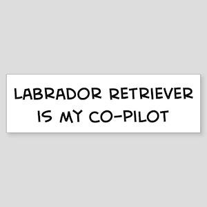 Co-pilot: Labrador Retriever Bumper Sticker