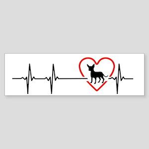 i love chihuahua Bumper Sticker